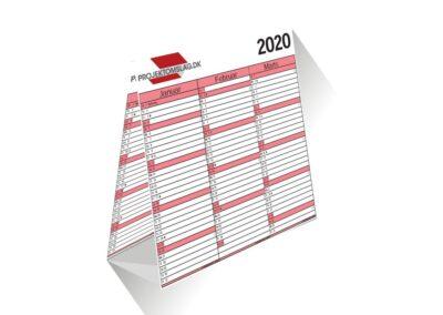 Kalender med 3 mdr på 4 sider - 21x21 cm - Kalenderen er vendbar