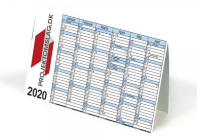 Kalender med 6 mdr på 2 sider - 32 x 17 cm